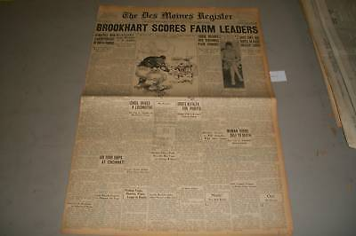 1929 October 15 Des Moines Register Newspaper Philadelphia World Series   Np 799