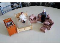 Dolls House furniture (four photographs)