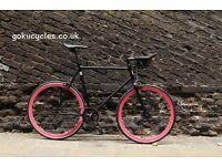 Special Offer GOKU CYCLES Steel Frame Single speed road bike TRACK bike fixed gear fixie bike w1