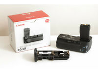 Genuine Canon BG-E8 Battery Grip With AA Adapter