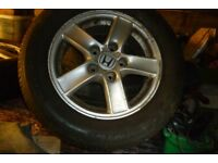 4 Honda alloy wheels with tyres