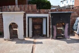 Three Victorian fireplaces (Sold collectively)