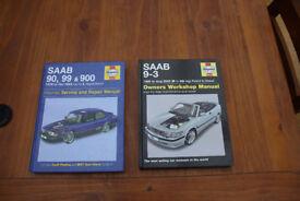 Two SAAB Haynes manuals