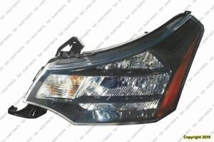 Head Lamp Driver Side Black/Chrome Trim [Coupe 2009-2010] [Sedan Ses 2010-2011] High Quality Ford Focus