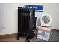 Pro Elec 1500 W Oil Filled Radiator + Currys Fan Heater