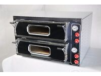 "Electric Double Pizza Oven, Commercial, 8x13""pizza, 1 year Warranty, Single/3 phases, 48hr delivery"