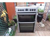 beko ceramic electric cooker 69 cm double oven like new