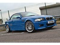 2001/Y E46 BMW M3 Convertible - Big Spec, 19's, Hardtop, Laguna Seca Blue (LSB)