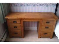 Solid Oak Dressing Table (laptop computer desk)