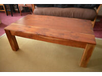 Coffee Table, Solid Chuncky Wood, Beautiful Grain