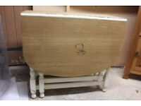 Light Oak Dropleaf Table