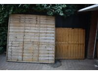 Fence panels (6x6ft) - nearly NEW - 5 for sale! 1 half panel free