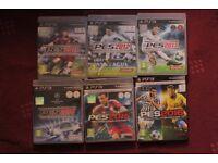 ps3 playstation games bundles: pro evolution soccer / pes 2011, 2012, 2013, 2014, 2014, 2015, 2016