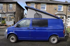VW Transporter T5 1.9TDI 4 berth, pop top campervan - full professional conversion
