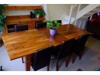 Hard wood table + 6 chairs