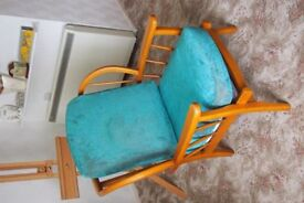 a nice windsor chair in good condition with recovered cushions for sale