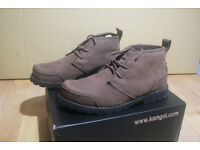 KANGOL Riverdale Boots or Shoes - MENs UK size 7 (euro 41)- Brown - only tried on at home