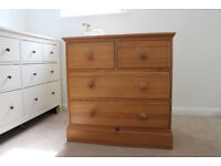 Beautiful Solid Wood Chest of Drawers - Useful Size - Good Condition