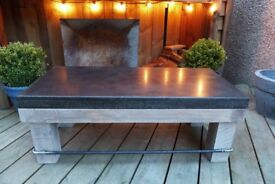 Industrial style polished concrete coffee table
