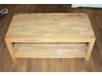 Solid wood coffee table / TV stand cabinet