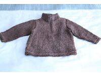 Boys brown fleece jumper 18-24 months