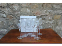 Boxed set of 6 Champagne Glasses / Flutes Laurent Perrier 15cl Verres Tester Tester Glasses Glass