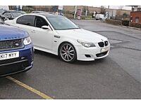 """BMW 530D AUTO WHITE M5 REPLICA LEATHER 20"""""""