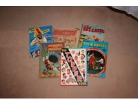 Collection of Old Books (Including football, a-team, dennis the menace & Whizzer Comic)
