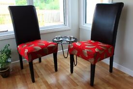 3 Chairs High backed dining/lounge/lobby chairs bespoke upcycled designer modern