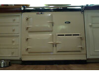 Two-oven Aga gas cooker. Hardly used 10-years-old