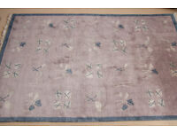 Good as new thick hand knotted modern Tibetan rug