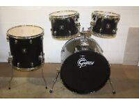 "Gretsch BlackHawk Black 4 Piece Drum Kit (22"" Bass) - DRUMS ONLY"