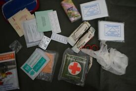 Camping First Aid Kit (+Emergency Shelter/Survival Bag + Sling)