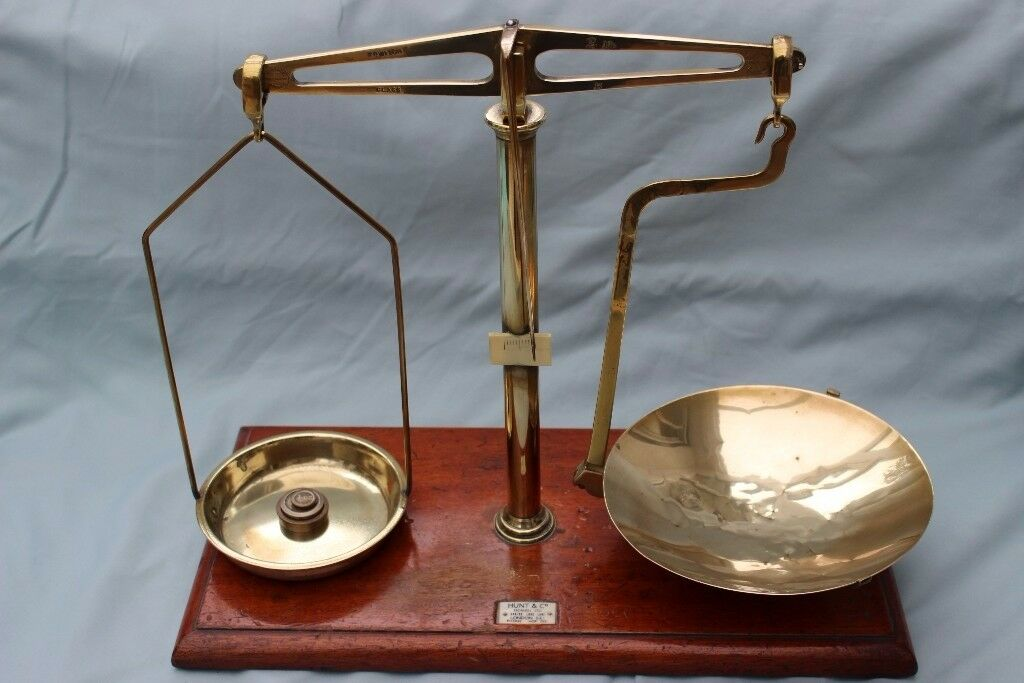 Old Original Brass Snuff Scales