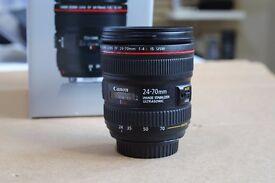 Canon 24-70mm f4 L Lens Boxed - Excellent Condition - Professional Lens - DSLR