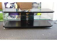 "TV Stand Techlink Air for TV's up to 55"" Black/Clear"