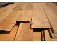 Solid Oak Floorboards - approx 55msq