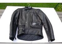 Motorcycle leather jacket.