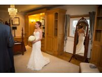 Sottero & Midgley Ivory over nude wedding dress with Swarovski Crystals, cost over £2000 new