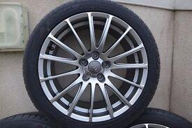 Fondmetal 7800 - 18 x 8 inch alloy wheels plus Yokohama 245x40 tyres suit Audi/VW etc