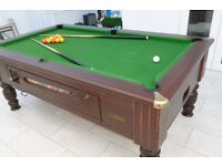 TOP QUALITY 7 X 4 SLATE BED COIN OPERATED POOL TABLE