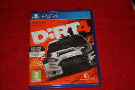 Dirt 4 PS4 game as new - used once DLC Code unused