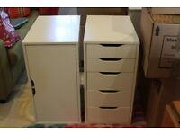 IKEA ALEX drawers and storage cupboard white
