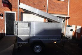 THALE BRENDERUP 1205S STEEL TRAILER – HIGH SIDES, Hydraulic LID and LOCKING BACK DOORS 2x1M, 750KG