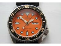 Seiko Scuba Diver's automatic mechanical wristwatch - Japan - '97 - 7S26-0020 - Orange Dial