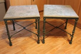 Pair of Marble Side Tables