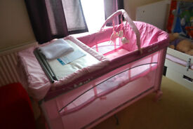 Travel cot Brevi Dolce Sogno Pink