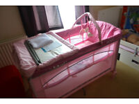 Travel cot Brevi Dolce Sogno Pink