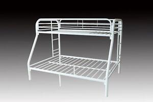 LORD SELKIRK FURNITURE - Metal Single / Double Bunk Bed Frame in White - $229.00