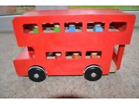 WHITE COMPANY - WOODEN TOY RED LONDON BUS